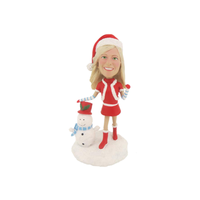 Christmas Girl Custom Bobble Heads