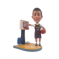 Basketball Player Bobble Head with Background