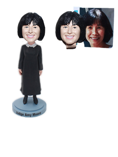 Custom Female Judge Bobble Heads