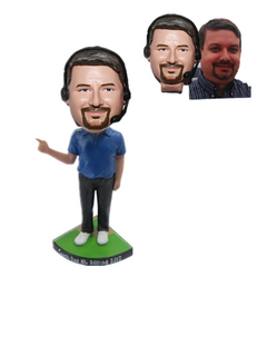 Custom Coach Bobblehead Coach with Headphone