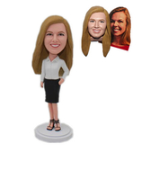 Custom Female Bobblehead Gift for Female Employee