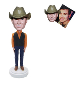 Custom Bobblehead Man with Cowboy Hat