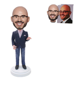 Custom Bobblehead Professor Giving A Speech