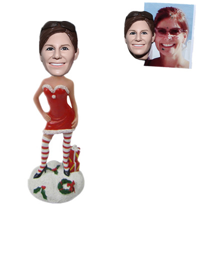 Sexy Christmas Girl Bobblehead