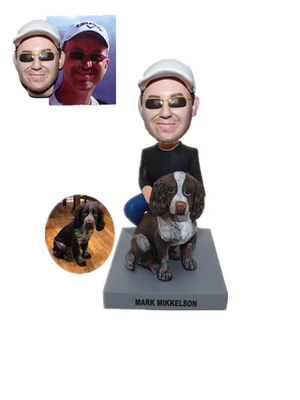 Custom Bobblehead Man with His Dog