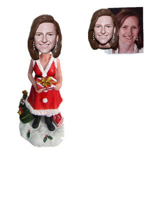 Custom Bobblehead Christmas Woman