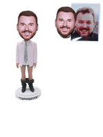 Custom Funny Bobblehead Joking Man Pants Down