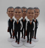 Custom Businessman Bobbleheads Man Holding A Briefcase Bulk Order