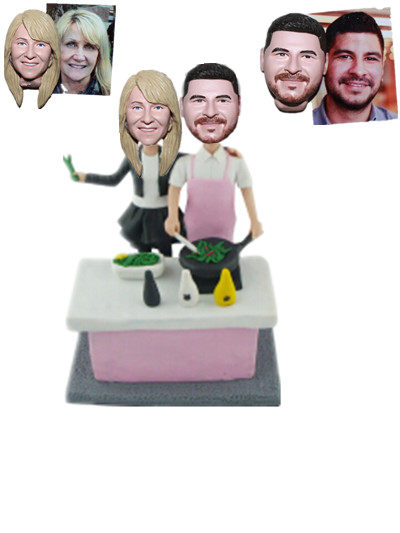 Custom Bobblehead Chef Couple