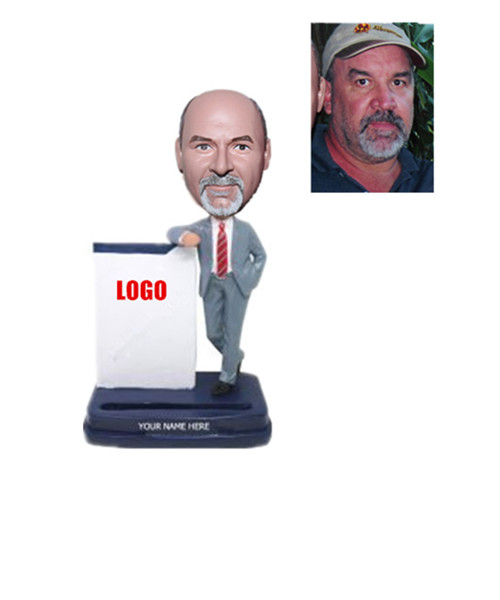 Businessman Card Holder Bobblehead Boss Gift
