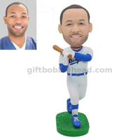 Custom Bobblehead Baseball Player Waving Baseball Bat