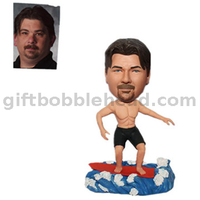 Sailing Bobblehead Customized Man Sailing on The Surfboard