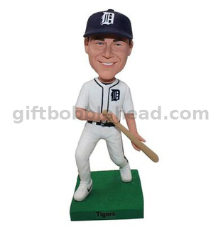 Baseball Custom Bobble Head with Bat
