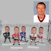 Custom Personalized Hockey Bobblehead in Your Team Jersey