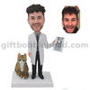 Custom Doctor Bobblehead Ophthalmologist with A Visual Chart