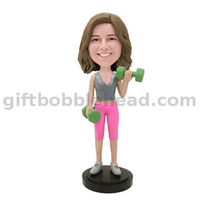 Female Fitness Custom Bobblehead