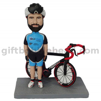 Custom Man Biker Rider Bobbleheads Man Standing by The Bike