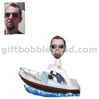 Custom Boating Bobble Head Man on The Boat