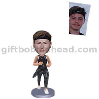 Custom Male Runner Bobblehead