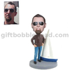 Custom Boating Bobblehead Man Standing Next To The Sailboat