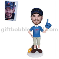 Personalized Custom Football Fan Foam Bobbleheads