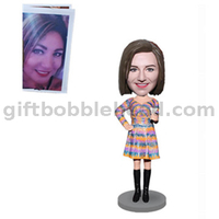 Custom Handmade Gift for Girlfriend Female Bobble Head
