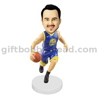 Custom Bobblehead Man Playing Basketball