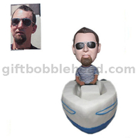 Sailing Bobbleheads Man Sailing on The Boat Handmade Birthday Gift