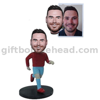 Male Runner Custom Bobble Head