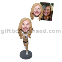Female Runner Custom Bobblehead